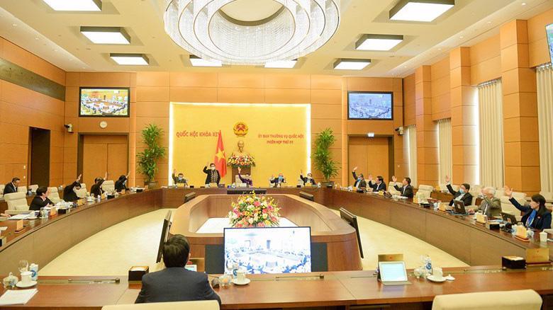 Thường vụ Quốc hội thông qua Nghị quyết Thành lập thành phố Thủ Đức chiều 9/12 - Ảnh: Quochoi.vn