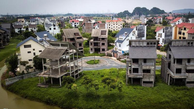 Một dự án bất động sản của Lã Vọng tại Hoài Đức, Hà Nội bỏ hoang nhiều năm nay.