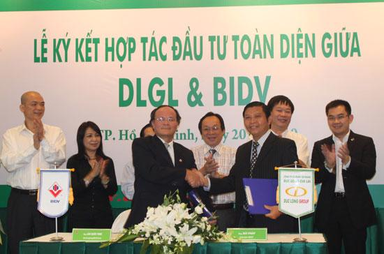 BIDV cam kết là đầu mối thu xếp, tài trợ cho DLGL và các công ty thành viên khoản tín dụng từ 12 - 13 nghìn tỷ đồng trong giai đoạn 2010 - 2015.