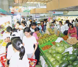 Trong một siêu thị Coop-mart ở Vĩnh Long.