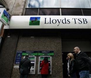 Theo kế hoạch công bố ngày 7/3, Chính phủ Anh sẽ đứng ra bảo lãnh cho số tài sản trị giá 260 tỷ Bảng, tương đương 367 tỷ USD, của Lloyds - Ảnh: AP.