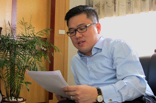 Ông phạm Ánh Dương, Chủ tịch Công ty cổ phần Môi trường xanh An Phát (mã chứng khoán AAA) - Ảnh: Anh Quân.