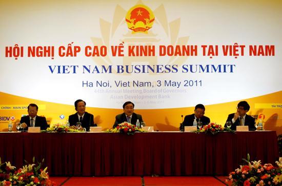 Hội nghị cấp cao về kinh doanh tại Việt Nam - Ảnh: Anh Quân.