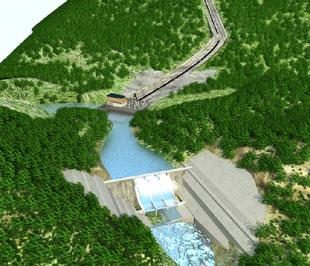 Phối cảnh công trình thủy điện Alin.