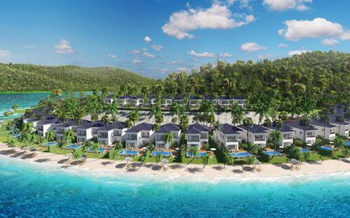 Với 90% biệt thự sát bờ biển và 100% căn hướng trực diện biển, Vinpearl Nha Trang Resort sở hữu tầm nhìn ra vịnh Nha Trang.