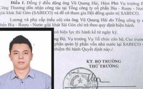 Ông Vũ Quang Hải được bổ nhiệm làm Tổng giám đốc PVFI khi mới 25 tuổi.