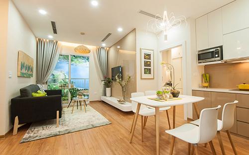 Tại Anland Complex (Anland), những khách hàng ưa chuộng căn hộ nhỏ xinh thường lựa chọn căn hộ có diện tích từ 75m2 - 80m2.