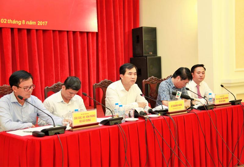Lần đầu tiên trong nhiều năm qua Bộ Xây dựng tổ chức họp báo quý để cung cấp thông tin về hoạt động của Bộ và các lĩnh vực có liên quan.<br>