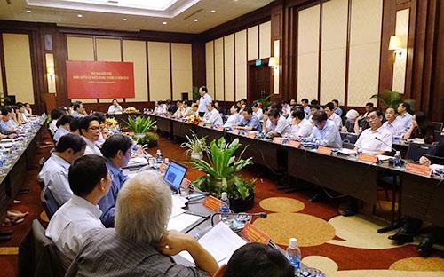 Toàn cảnh phiên họp của Ban Điều phối vùng duyên hải miền Trung - Ảnh: Việt Tuấn.