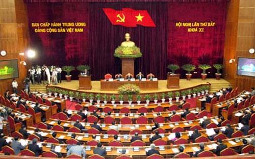 Hội nghị lần thứ 7 Ban Chấp hành Trung ương Đảng khoá XI sẽ xem xét, quyết định, cho ý kiến chỉ đạo đối với các vấn đề lớn. <br>