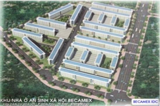 Phối cảnh dự án khu nhà ở an sinh xã hội Becamex.