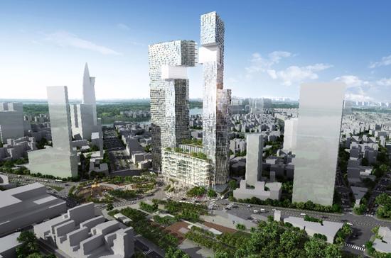 Phối cảnh dự án tòa tháp Bến Thành tại quận 1, Tp.HCM.