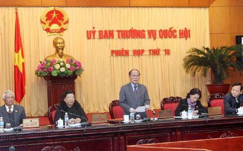 Chủ tịch Quốc hội Nguyễn Sinh Hùng yêu cầu phải giảm thiểu tối đa nghị định hướng dẫn thi hành  luật, và có thể đổi tên thành bộ luật sau khi đã chỉnh lý đầy đủ với  các quy định cơ bản là áp dụng được ngay.