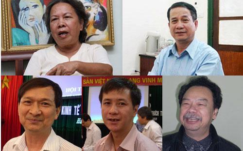 TSKH. Nguyễn Thị Hiền, PGS.TS. Ngô Trí Long, TS. Nguyễn Ngọc Tuyến, TS.Nguyễn Đức Độ, PGS.TS.Nguyễn Thường Lạng.