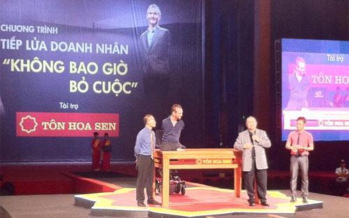 Theo lãnh đạo HSG, tập đoàn này đã chi tổng cộng 35 tỷ đồng cho sự kiện Nick Vujicic đến Việt Nam - Ảnh: Hoàng Thủy.