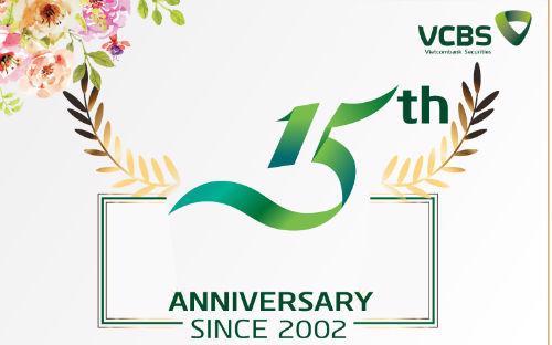 <b> </b>Công ty Chứng khoán Ngân hàng Thương mại Cổ phần Ngoại thương Việt  Nam (VCBS) sẽ đánh dấu 15 năm chính thức đi vào hoạt động (18/6/2002 - 18/6/2017) với nhiều dấu ấn và thành công.<b><br></b>
