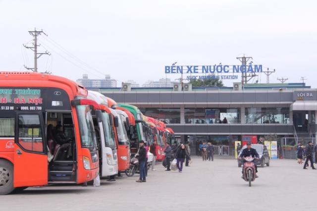 Một góc Bến xe Nước Ngầm - Hà Nội.<br>