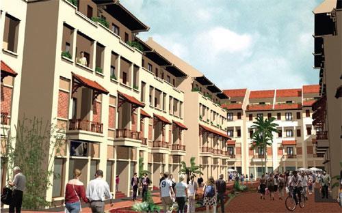 Nhà liền kề Đô Nghĩa là sự kết hợp tinh tế giữa nhà phố thương mại và mô hình nhà ở hiện đại.