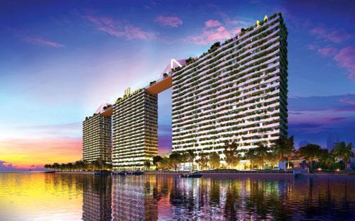 Phối cảnh tổng thể dự án xanh Diamond Lotus Riverside.