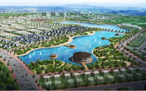Một góc của dự án Nam Vĩnh Yên (Vĩnh Phúc).<br>