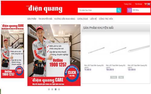 Trang web của Công ty Cổ phần Bóng đèn Điện Quang.