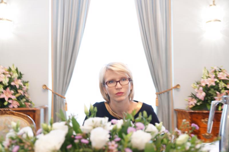 Bà Marta Gajecka, Cố vấn kinh tế của Tổng thống Ba Lan.