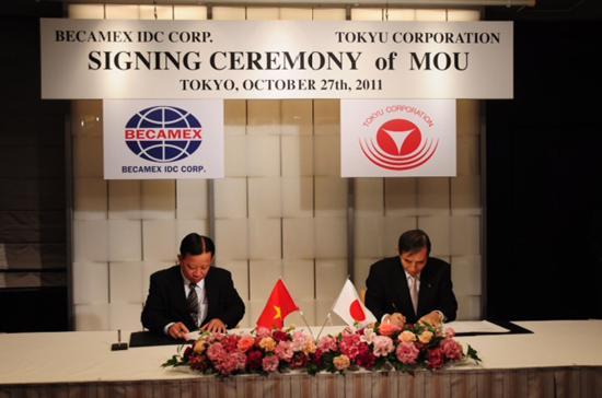 Lễ ký kết diễn ra lại Tokyo.