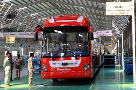 Dòng xe Thaco Bus đang là lựa chọn hàng đầu của các doanh nghiệp vận tải hành khách - Ảnh: Bobi.