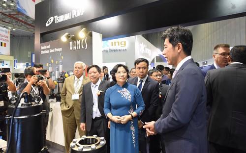 Hai triển lãm sẽ góp phần quan trọng việc phát triển bền vững ngành nước và năng lượng của Việt Nam.