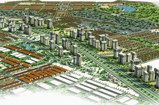 Phối cảnh dự án Khu đô thị Thạch Thất.