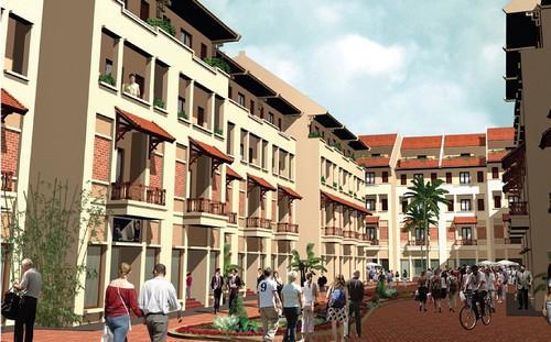 Tọa lạc trong Khu đô thị Dương Nội 200ha, nhà liền kề Đô Nghĩa nằm trong  dãy nhà phố Đô Nghĩa hưởng trọn ưu thế từ vị trí đắc địa đến hệ thống  tiện ích đồng bộ được nhiều khách hàng tin tưởng đặt tiền ký hợp đồng sở  hữu.