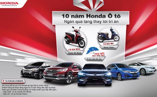 Theo thống kê, cộng dồn đến hết tháng 7/2016, tổng sản lượng bán hàng ôtô của Honda Việt Nam đạt trên 47.000 chiếc.