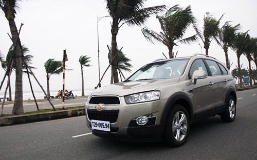 Mẫu xe đa dụng Chevrolet Captiva được hưởng mức ưu đãi giá bán lớn nhất trong đợt kích cầu của GM Việt Nam.<br>
