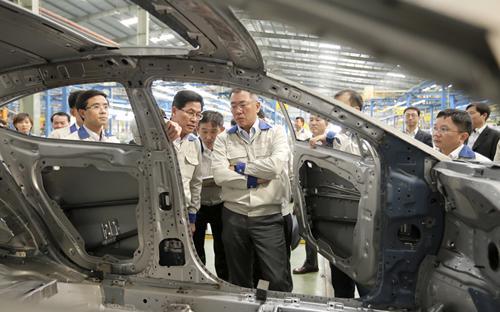 Nhà máy mới của liên doanh Hyundai - Thành Công sẽ nhận chuyển giao những công nghệ sản xuất, lắp ráp hiện đại nhất.
