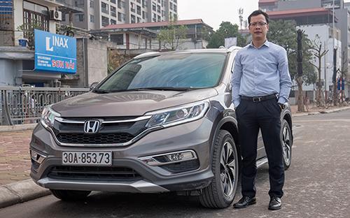 Anh Minh Hiếu, chủ sỡ hữu xe CR-V 2.4L tại Hà Nội.