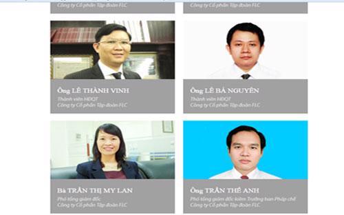 Các thành viên trong Ban lãnh đạo công ty.<br>
