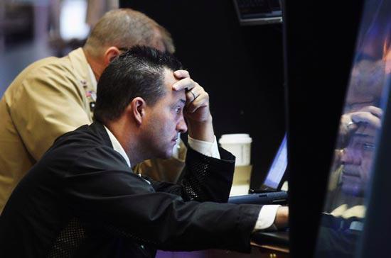 Chỉ số bất ổn Phố Wall đêm qua tăng tới 10%, cho thấy tâm lý nhà đầu tư vẫn còn bi quan - Ảnh: Getty.