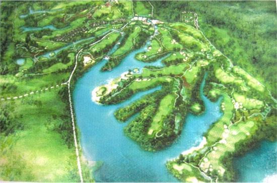 Phối cảnh dự án sân Golf tại Chương Mỹ, Hà Nội.