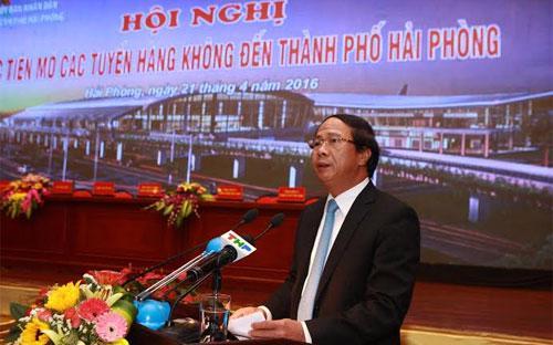 Ông Lê Văn Thành, Bí thư thành ủy - Chủ tịch UBND Thành phố Hải Phòng.