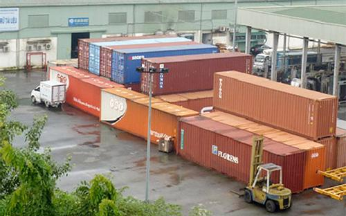 Hoạt động xuất nhập khẩu tại ICD Mỹ Đình (Hà Nội).
