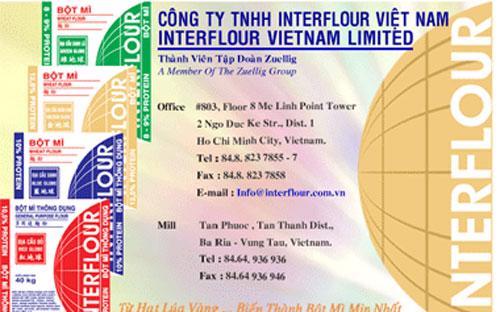 Công ty Interflour Việt Nam (IFV) là công ty 100% vốn đầu tư nước ngoài với tổng vốn 100 triệu USD.