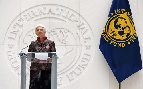 Bà Christine Lagarde - Giám đốc Quỹ Tiền tệ Quốc tế - Ảnh: Wall Street Journal.<br>