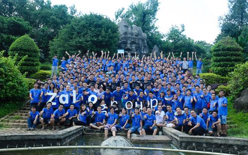 Tập thể Zalo group trong chuyến team building vừa qua. Ảnh: FB Ngô Trần Hải An.