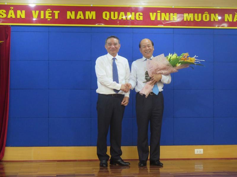 Bộ trưởng Bộ Giao thông Vận tải Trương Quang Nghĩa giao nhiệm vụ mới cho Thứ trưởng Nguyễn Văn Công ngày 31/7.<br>