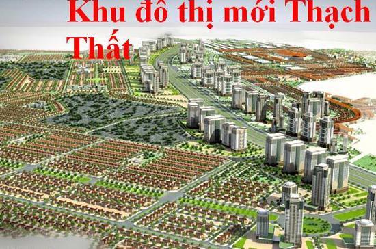 Phối cảnh khu đô thị Thạch Thất do Tập đoàn Nam Cường làm chủ đầu tư - doanh nghiệp có diện tích đất bị đề nghị thu hồi nhiều nhất, lên tới hơn 803 ha.