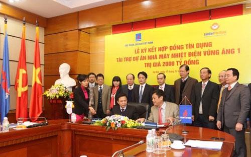 Lễ ký hợp đồng tín dụng giữa LienVietPostBank với Petro Vietnam sáng 17/12 - Ảnh: Quang Phúc.<br>