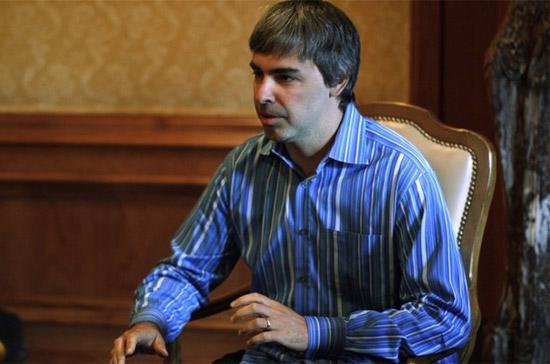 Ông Larry Page, đồng sáng lập ra công cụ tìm kiếm Google - Ảnh: Reuters.