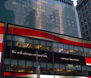 Tòa nhà trụ sở của Lehman Brothers.