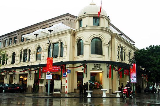 Trụ sở của Sở Giao dịch Chứng khoán Hà Nội.