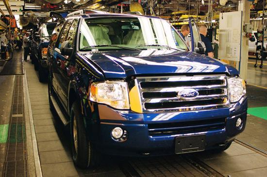 Quang cảnh một nhà máy sản xuất của Ford.